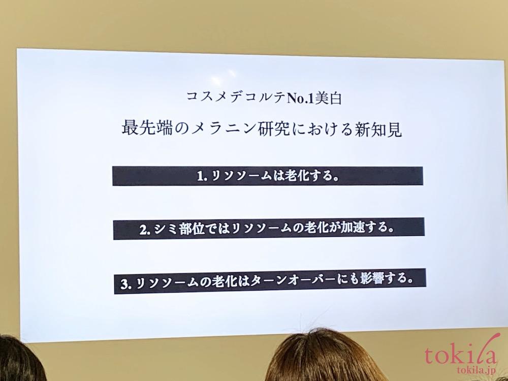 コスメデコルテ ホワイトロジスト ブライト コンセントレイト新商品発表会プレゼンスライド画像