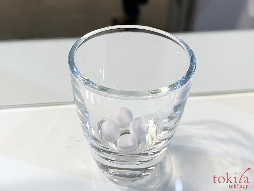 コスメデコルテ ホワイトロジスト オーバーナイト インナープラスの1日分の量4粒