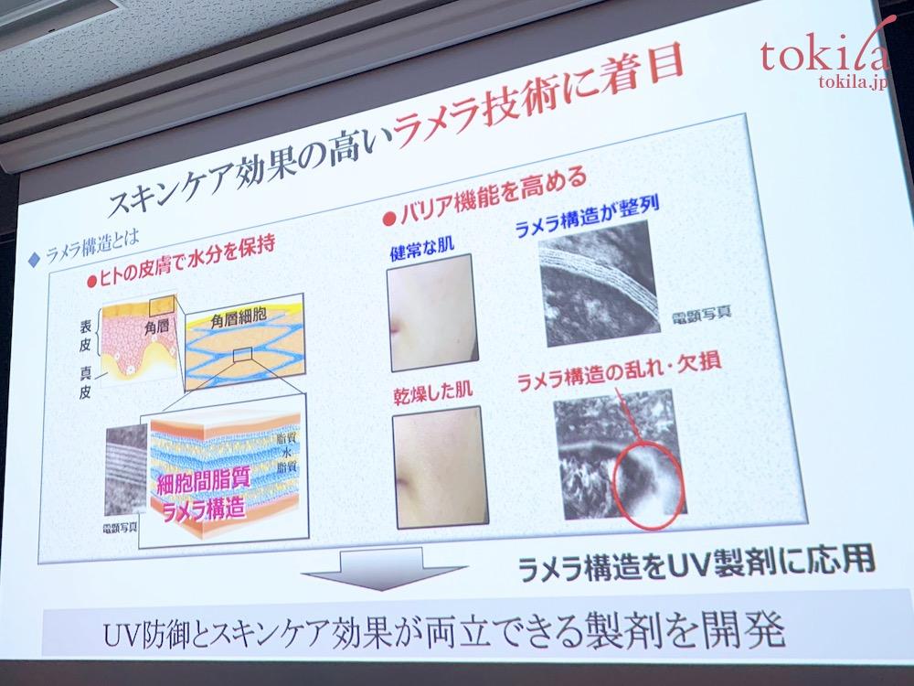 ルナソル 2020春 スキンケア効果の高いラメラ構造に着目したuvケアを開発