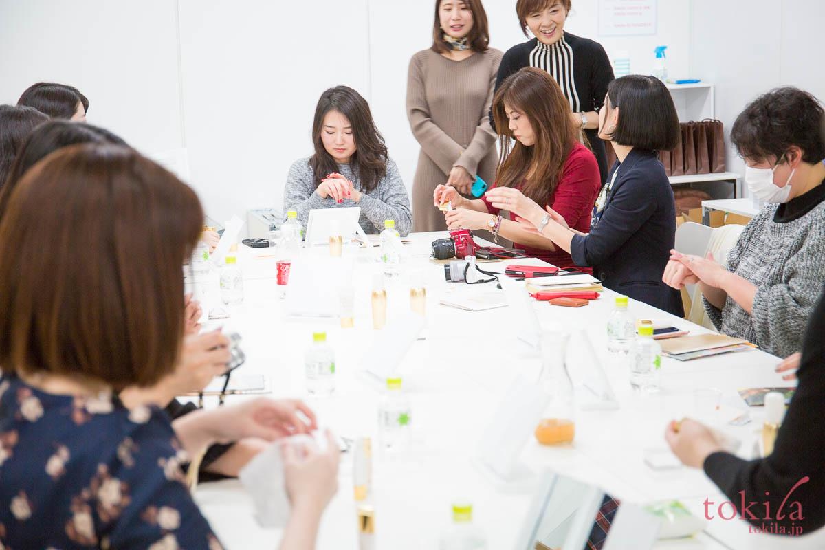 tokilaメンバー参加型キャラバン日記 リポcプーラボーテシリーズを試しているメンバーたち