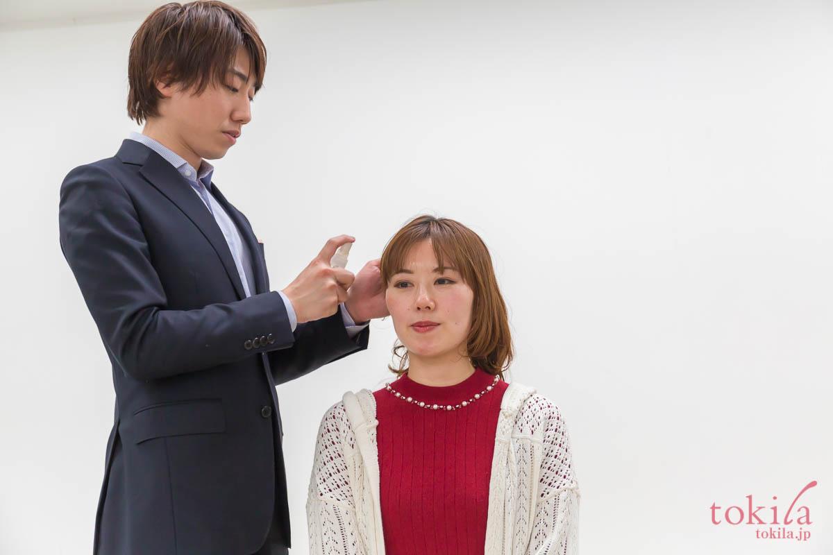 キャラバン日記パート2 リノ クロノシャルディ田中さんによるスタイリングデモ 浅葱さん編1