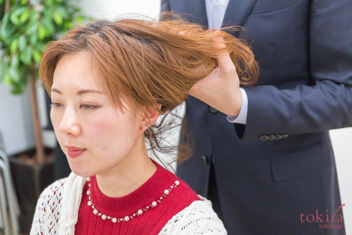 キャラバン日記パート2 リノ クロノシャルディ田中さんによるスタイリングデモ 浅葱さん編6