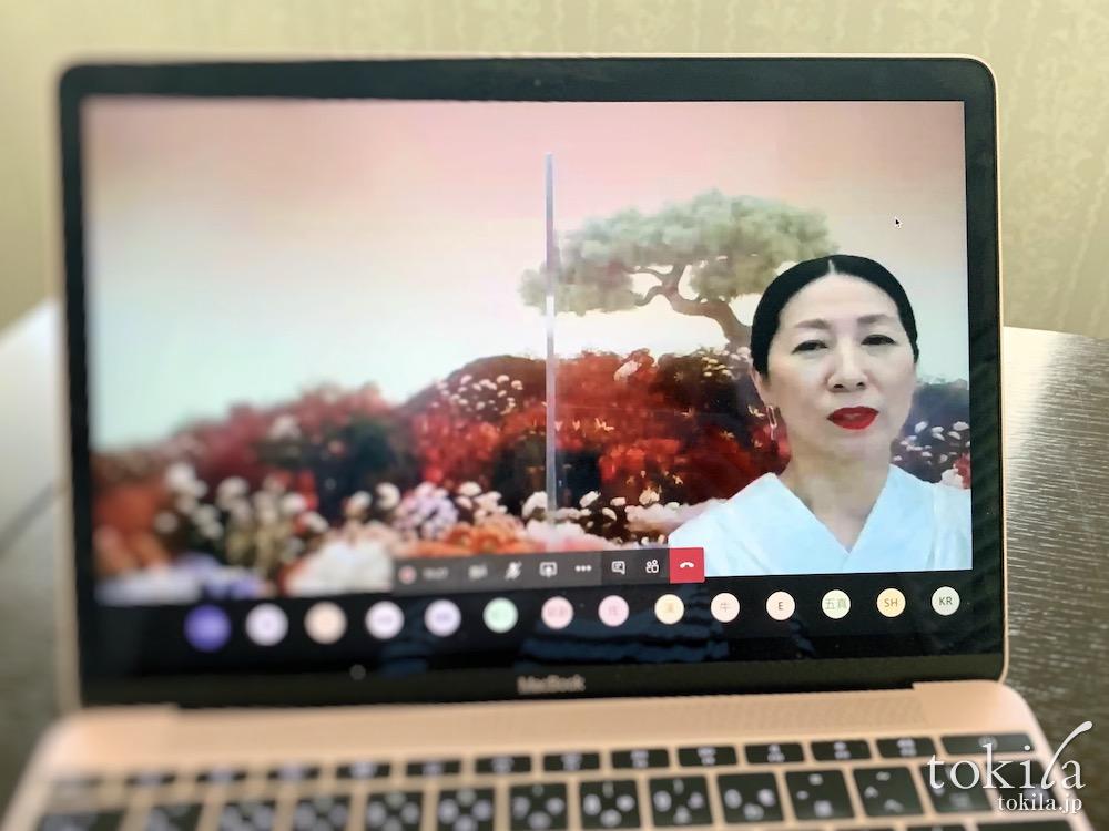 RMK2020aw makeup collection オンライン発表会画面越しのkaoriさん